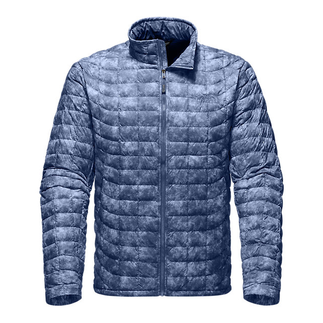 Discount NORTH FACE MEN'S THERMOBALL FULL ZIP JACKET SHADY BLUE PROCESS PRINT ONLINE