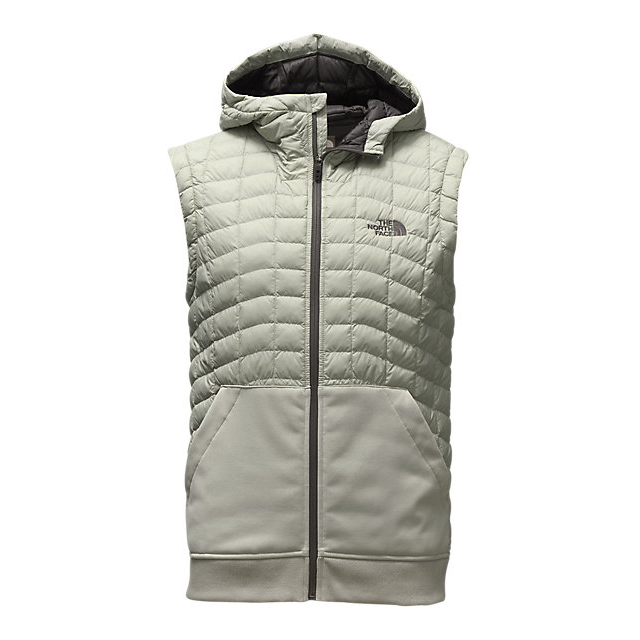 CHEAP NORTH FACE MEN'S KILOWATT THERMOBALL  VEST WROUGHT IRON/ASPHALT HEATHER GREY ONLINE