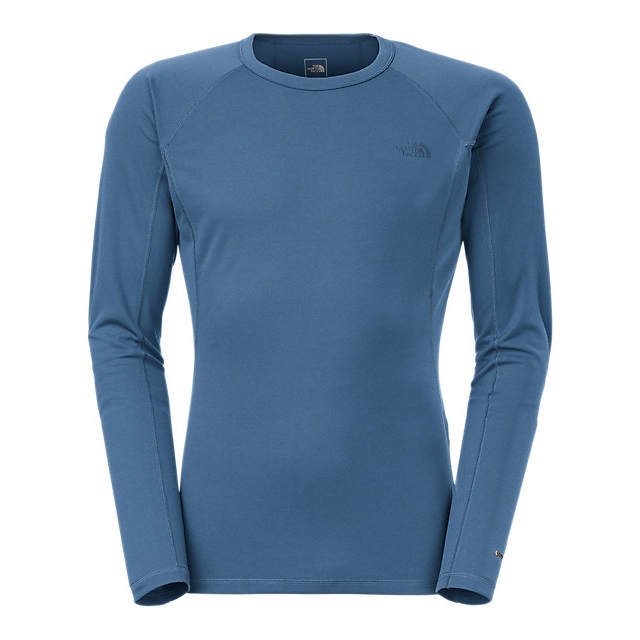 CHEAP NORTH FACE MEN'S LIGHT LONG-SLEEVE CREW NECK SHADY BLUE ONLINE