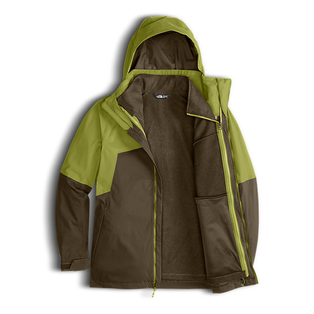 Discount NORTH FACE MEN\'S GAMBIT TRICLIMATE JACKET LEMONGRASS GREEN/CAPER BERRY GREEN ONLINE