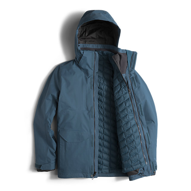 Discount NORTH FACE MEN\'S THERMOBALL SNOW TRICLIMATE PARKA DIESEL BLUE ONLINE