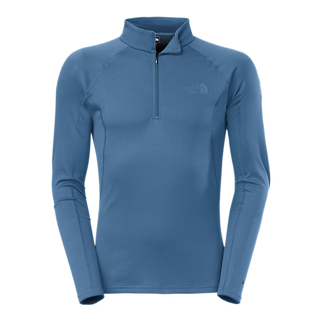 Discount NORTH FACE MEN'S WARM LONG-SLEEVE ZIP NECK SHADY BLUE ONLINE