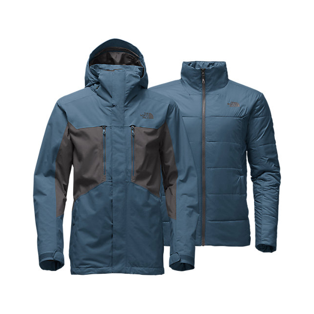Discount NORTH FACE MEN\'S CLEMENT TRICLIMATE JACKET DIESEL BLUE / ASPHALT GREY ONLINE