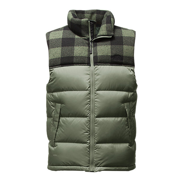 Discount NORTH FACE MEN'S NUPTSE VEST DUCK GREEN/DUCK GREEN GRIZZLY PRINT ONLINE