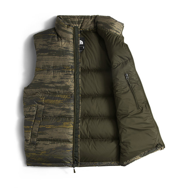Discount NORTH FACE MEN\'S NUPTSE VEST ROSIN GREEN GLAMO PRINT/ROSIN GREEN GLAMO PRINT ONLINE