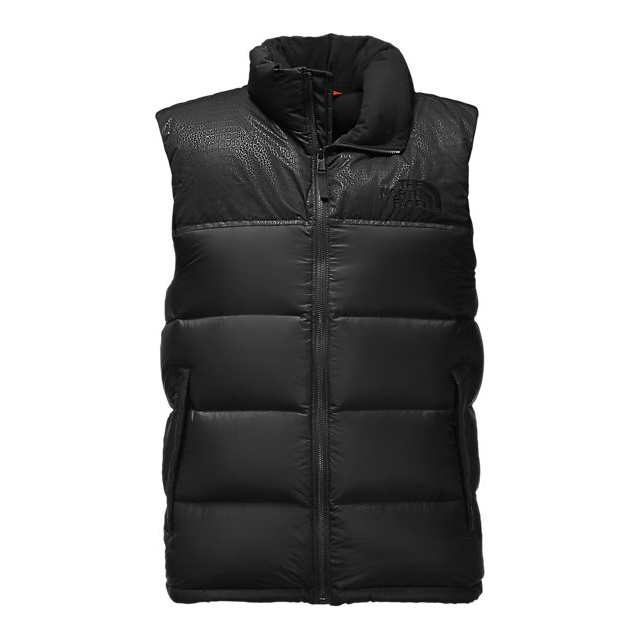 Discount NORTH FACE MEN'S NUPTSE SPECIAL EDITION VEST BLACK/BLACK CROC EMBOSS ONLINE