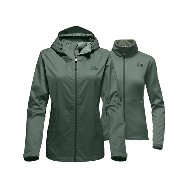 Discount NORTH FACE WOMEN'S ARROWOOD TRICLIMATE  JACKET BALSAM GREEN DOBBY ONLINE