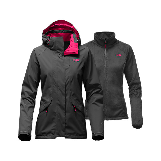 Discount NORTH FACE WOMEN'S BOUNDARY TRICLIMATE  JACKET ASPHALT GREY/CERISE PINK ONLINE