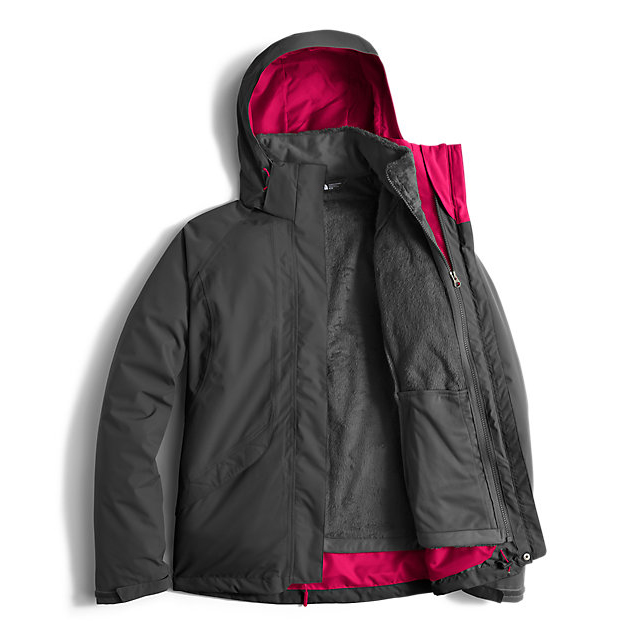Discount NORTH FACE WOMEN\'S BOUNDARY TRICLIMATE  JACKET ASPHALT GREY/CERISE PINK ONLINE