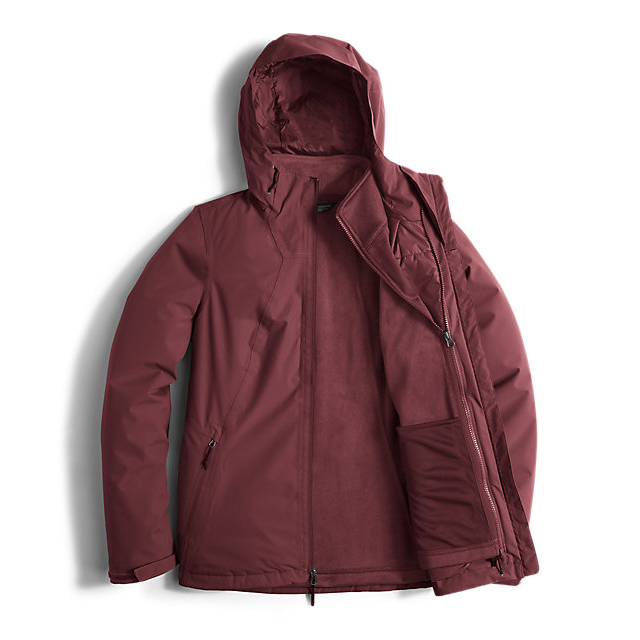 Discount NORTH FACE WOMEN\'S HIGHANDDRY TRICLIMATE  JACKET DEEP GARNET RED ONLINE