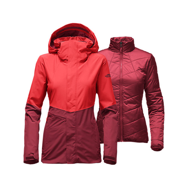 Discount NORTH FACE WOMEN'S GARNER TRICLIMATE  JACKET HIGH RISK RED/BIKING RED ONLINE