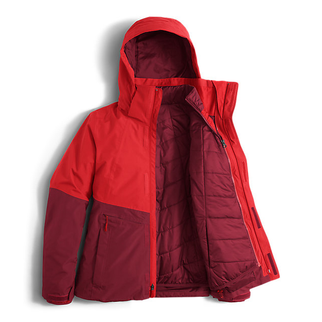 Discount NORTH FACE WOMEN\'S GARNER TRICLIMATE  JACKET HIGH RISK RED/BIKING RED ONLINE