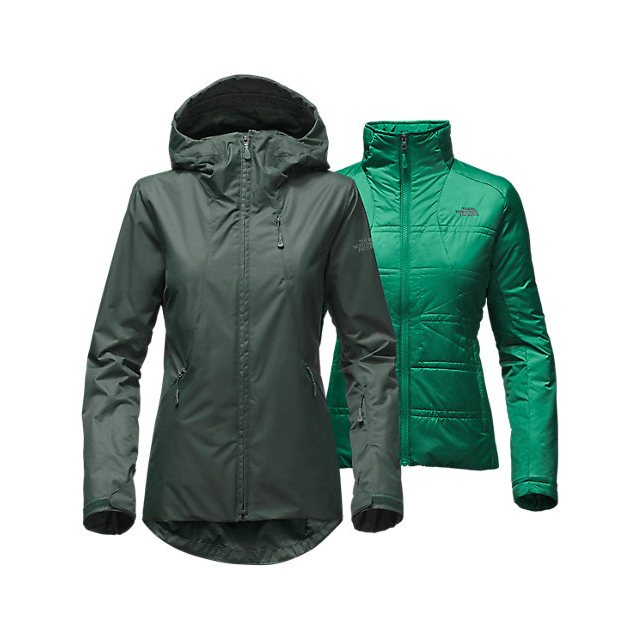 Discount NORTH FACE WOMEN'S CLEMENTINE TRICLIMATE  JACKET DARKEST SPRUCE ONLINE