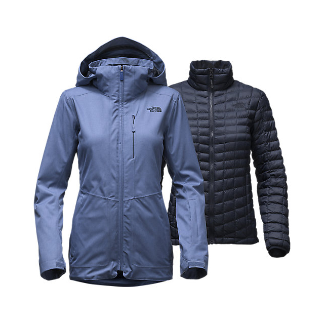 Discount NORTH FACE WOMEN'S THERMOBALL  SNOW TRICLIMATE  PARKA COASTAL FJORD BLUE ONLINE