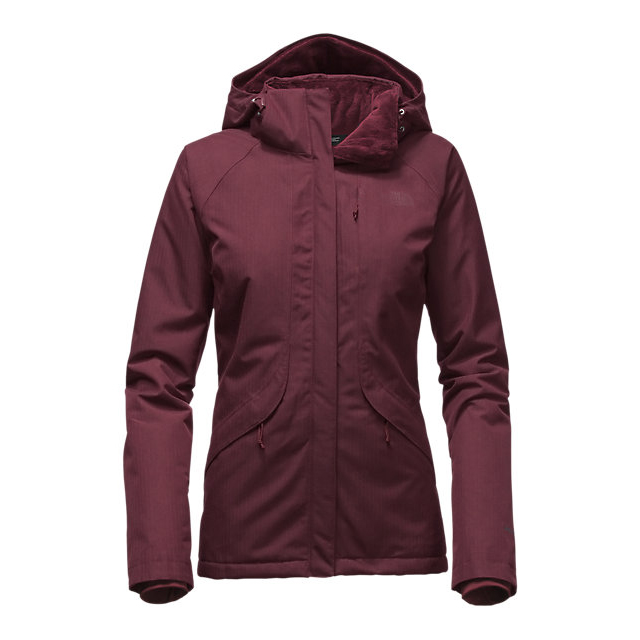 Discount NORTH FACE WOMEN\'S INLUX INSULATED JACKET DEEP GARNET RED HEATHER ONLINE