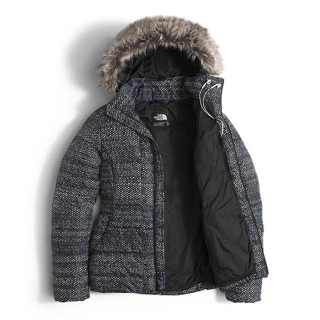 Discount NORTH FACE WOMEN\'S GOTHAM DOWN JACKET BLACK DONEGAL PRINT ONLINE