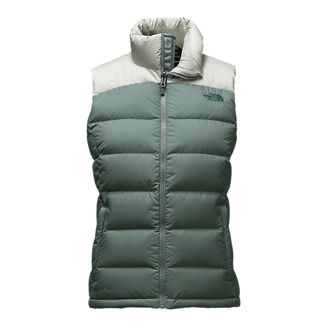 Discount NORTH FACE WOMEN'S NUPTSE 2 VEST BALSAM GREEN/WROUGHT IRON ONLINE