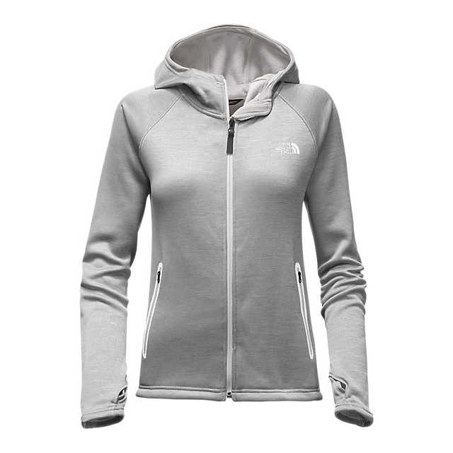 Discount NORTH FACE WOMEN'S TECH AGAVE HOODIE LUNAR ICE GREY HEATHER ONLINE