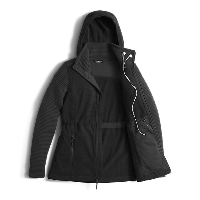 Discount NORTH FACE WOMEN\'S INDI INSULATED HOODIE BLACK HEATHER / BLACK ONLINE