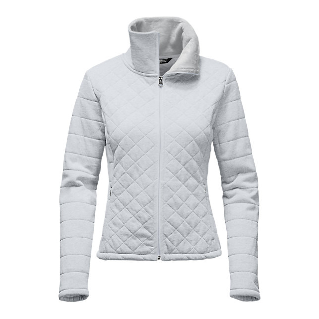 Discount NORTH FACE WOMEN'S CAROLUNA CROP JACKET LIGHT GREY HEATHER ONLINE