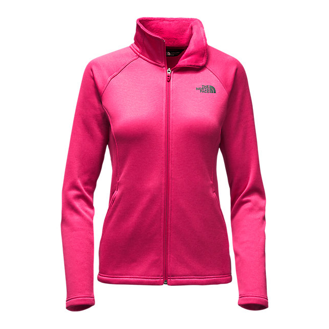 Discount NORTH FACE WOMEN'S AGAVE FULL ZIP CERISE PINK HEATHER ONLINE