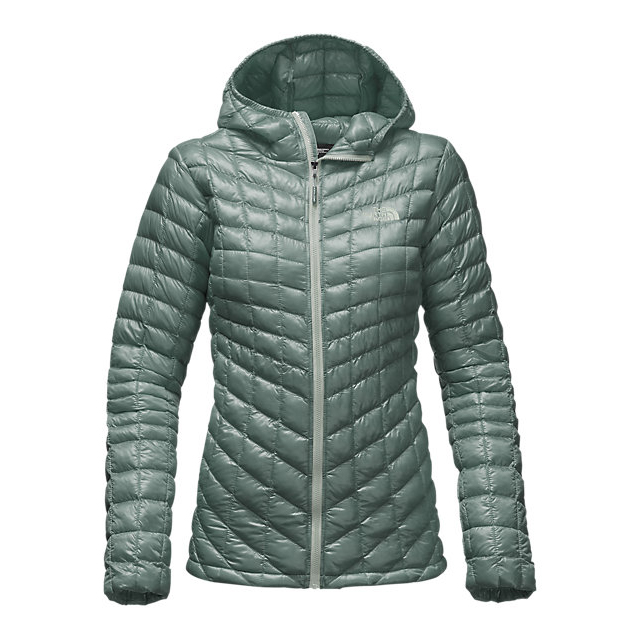Discount NORTH FACE WOMEN'S THERMOBALL HOODED JACKET BALSAM GREEN ONLINE