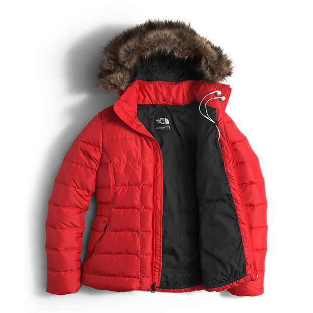 Discount NORTH FACE WOMEN\'S GOTHAM DOWN JACKET HIGH RISK RED ONLINE