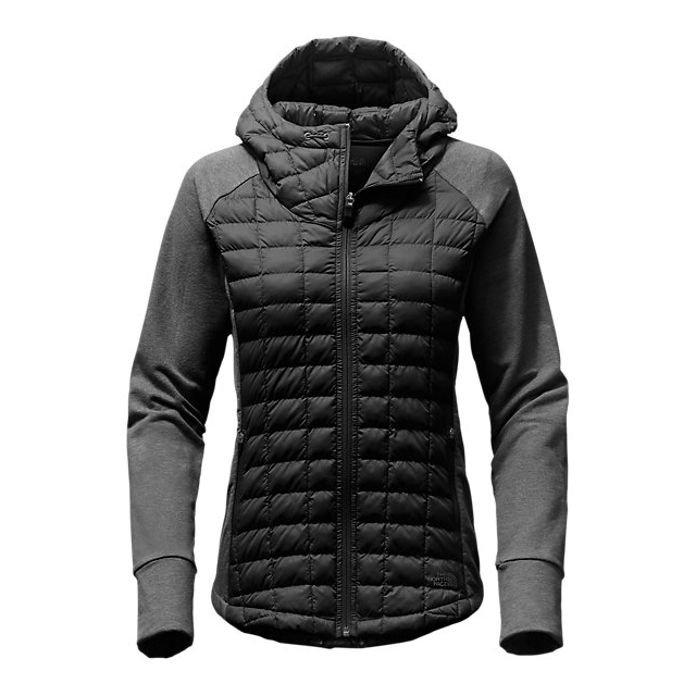 Discount NORTH FACE WOMEN\'S ENDEAVOR THERMOBALL  JACKET BLACK / BLACK HEATHER ONLINE