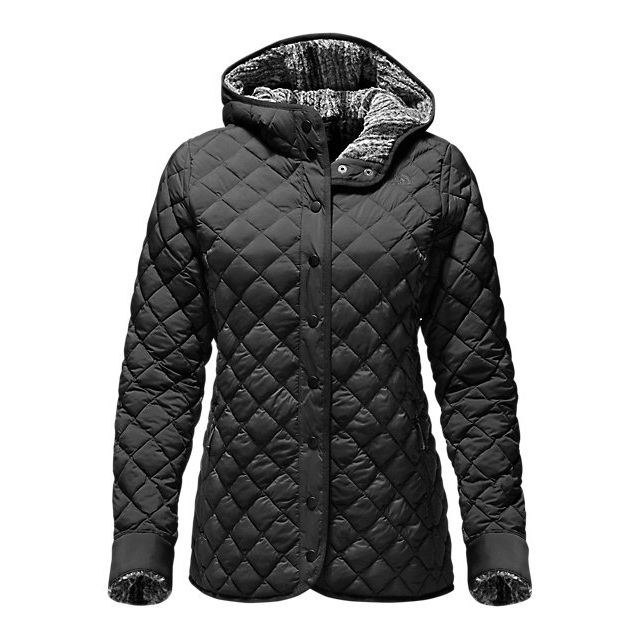 Discount NORTH FACE WOMEN\'S THERMOBALL FUR HOODIE BLACK / BLACK HEATHER ONLINE