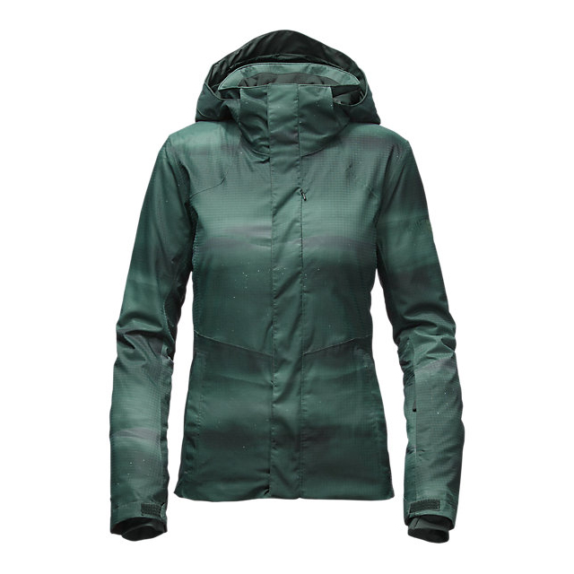 Discount NORTH FACE WOMEN'S POWDANCE JACKET DARKEST SPRUCE SNOWSCAPE PRINT ONLINE