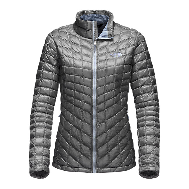 Discount NORTH FACE WOMEN'S THERMOBALL  FULL ZIP JACKET (EXCLUSIVE COLORS) MID GREY/ARCTIC ICE BLUE ONLINE