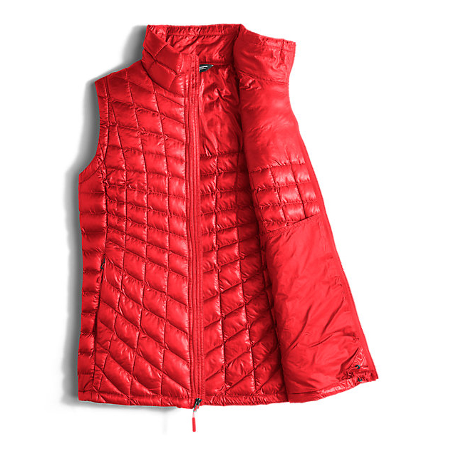Discount NORTH FACE WOMEN\'S THERMOBALL  VEST HIGH RISK RED ONLINE