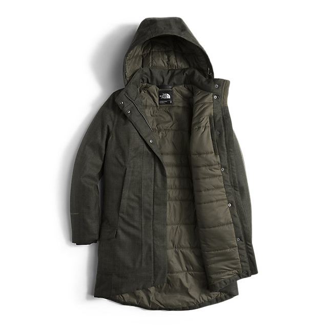 Discount NORTH FACE WOMEN\'S TEMESCAL TRENCH ROSIN GREEN HERRINGBONE ONLINE
