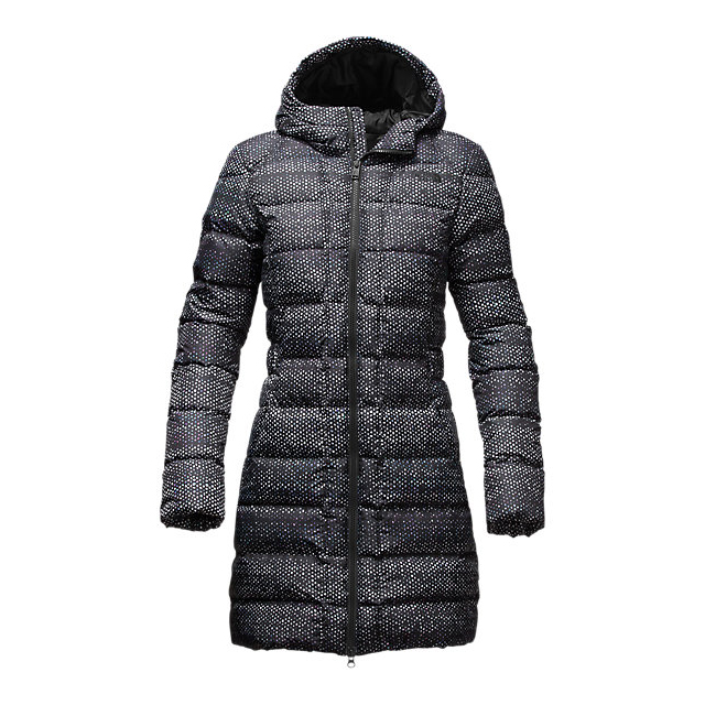 Discount NORTH FACE WOMEN'S GOTHAM PARKA BLACK DONEGAL PRINT ONLINE