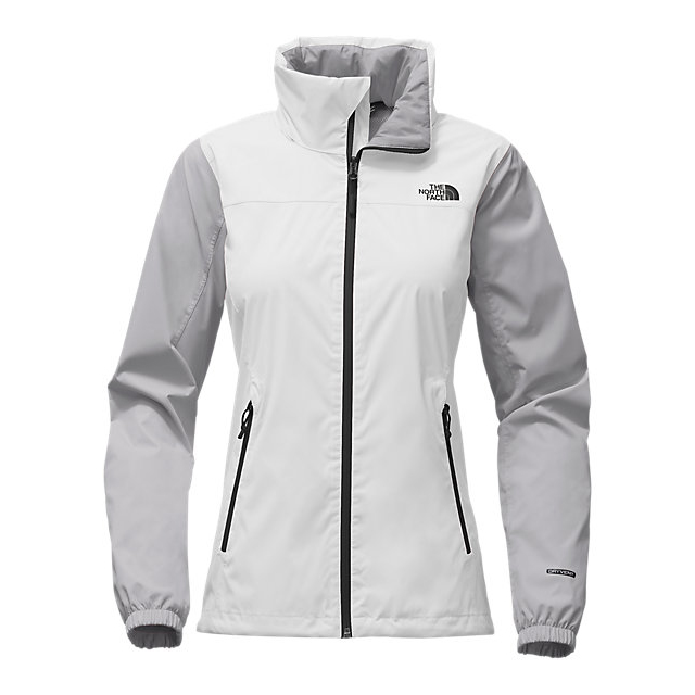 Discount NORTH FACE WOMEN'S RESOLVE PLUS JACKET WHITE/MID GREY ONLINE