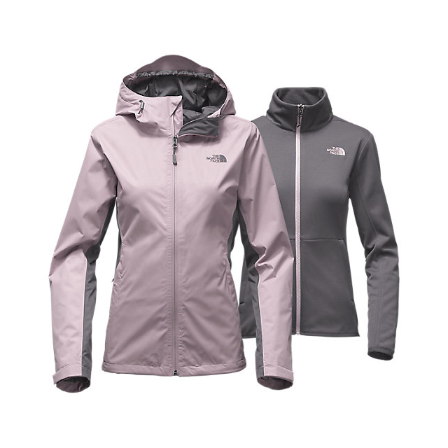 Discount NORTH FACE WOMEN'S ARROWOOD TRICLIMATE JACKET QUAIL GREY/RABBT GREY ONLINE