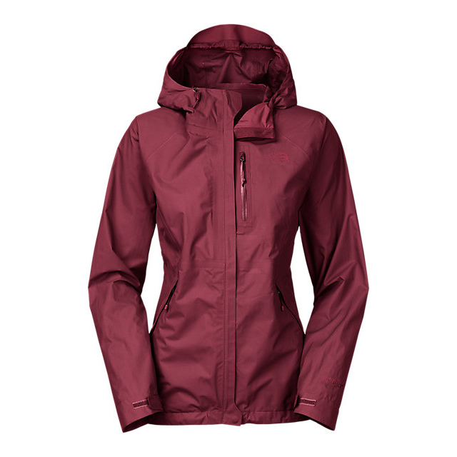 Discount NORTH FACE WOMEN'S DRYZZLE JACKET DEEP GARNET RED ONLINE
