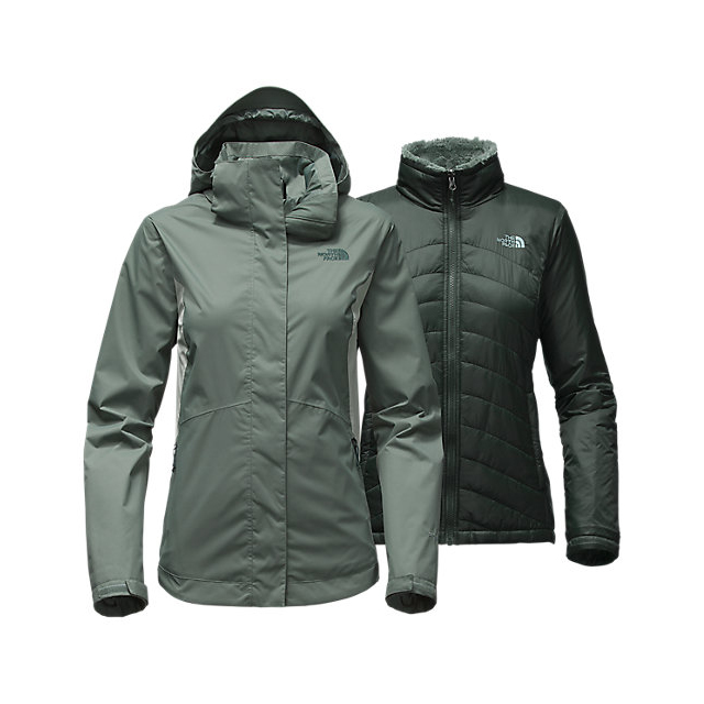 Discount NORTH FACE WOMEN'S MOSSBUD SWIRL TRICLIMATE JACKET BALSAM GREEN/WROUGHT IRON ONLINE