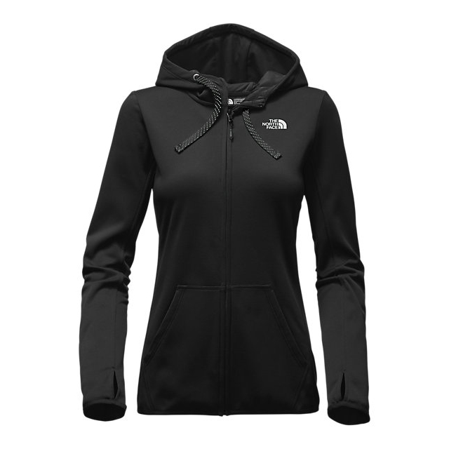 Discount NORTH FACE WOMEN\'S FAVE LFC FULL ZIP HOODIE BLACK / WHITE ONLINE