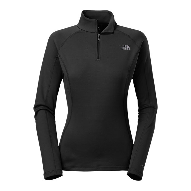 Discount NORTH FACE WOMEN\'S WARM LONG-SLEEVE ZIP NECK BLACK ONLINE