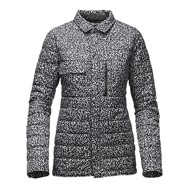 Discount NORTH FACE WOMEN\'S WHOISTHIS JACKET BLACK WHITEOUT PRINT ONLINE
