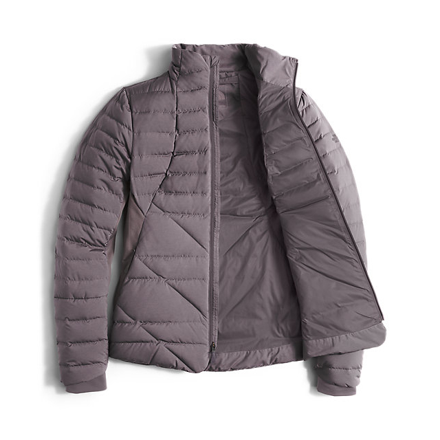 Discount NORTH FACE WOMEN\'S LUCIA HYBRID DOWN JACKET RABBIT GREY HEATHER ONLINE