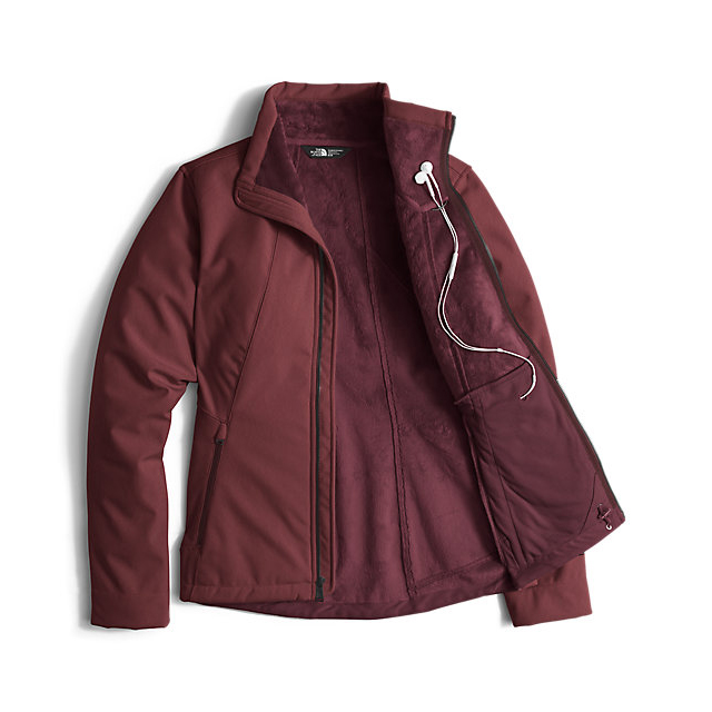 Discount NORTH FACE WOMEN\'S APEX CHROMIUM THERMAL JACKET DEEP GARNET RED HEATHER ONLINE