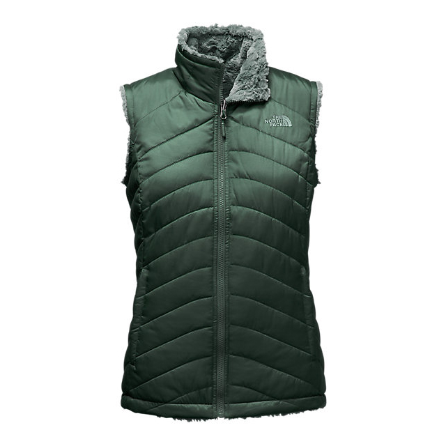 Discount NORTH FACE WOMEN'S MOSSBUD SWIRL REVERSIBLE VEST DARKEST SPRUCE/BALSAM GREEN ONLINE