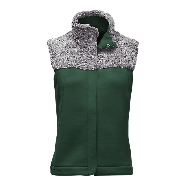 Discount NORTH FACE WOMEN'S HYBRINATION THERMAL 3D VEST SCARAB GREEN BLACK HEATHER ONLINE
