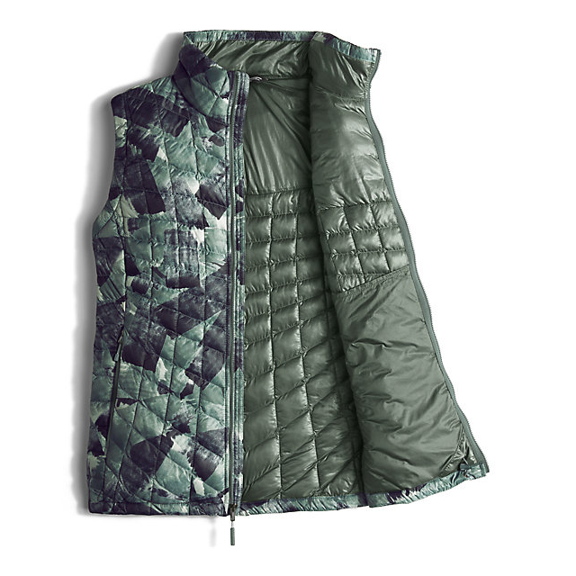 Discount NORTH FACE WOMEN\'S THERMOBALL™ VEST BALSAM GREEN SWASHED PRINT ONLINE
